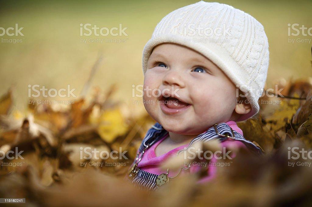 autumn little girl child portraits royalty-free stock photo