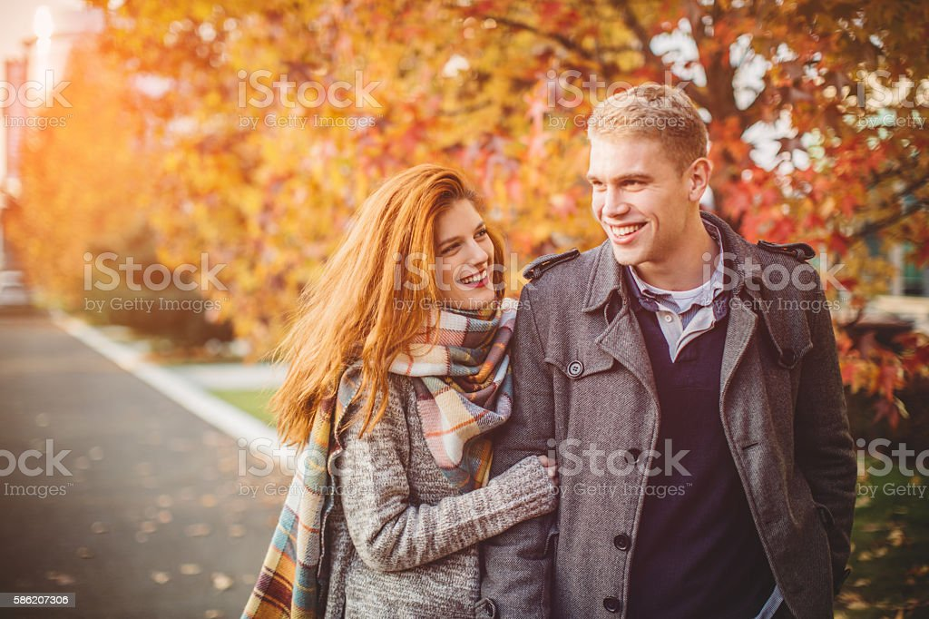 Autumn love stock photo