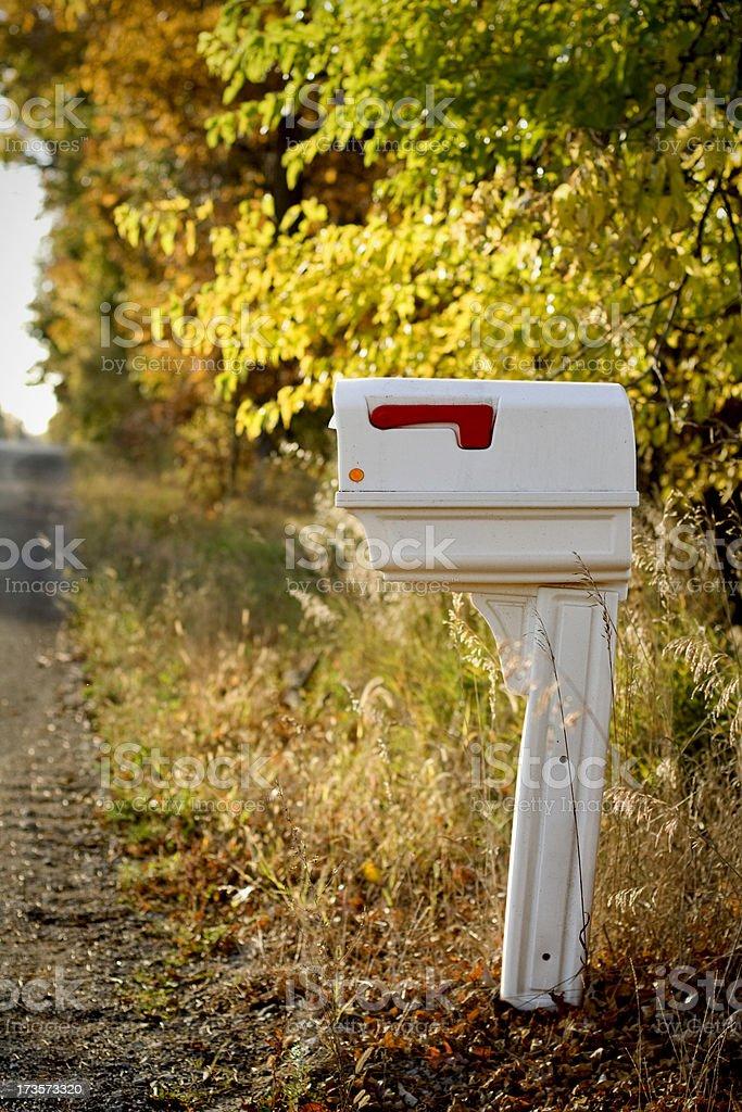 Autumn Mailbox royalty-free stock photo