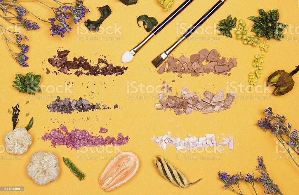 Autumn makeup stock photo