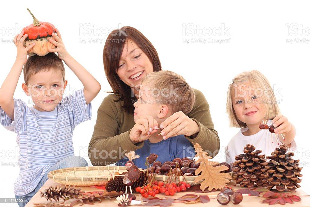 autumn - making decoration royalty-free stock photo