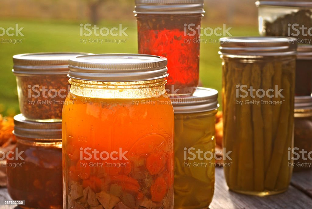 Autumn Mason Jars stock photo