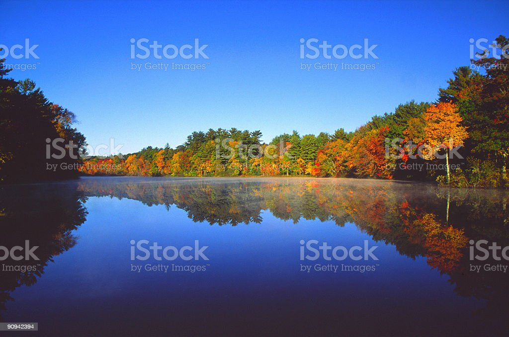 Autumn Mirror stock photo