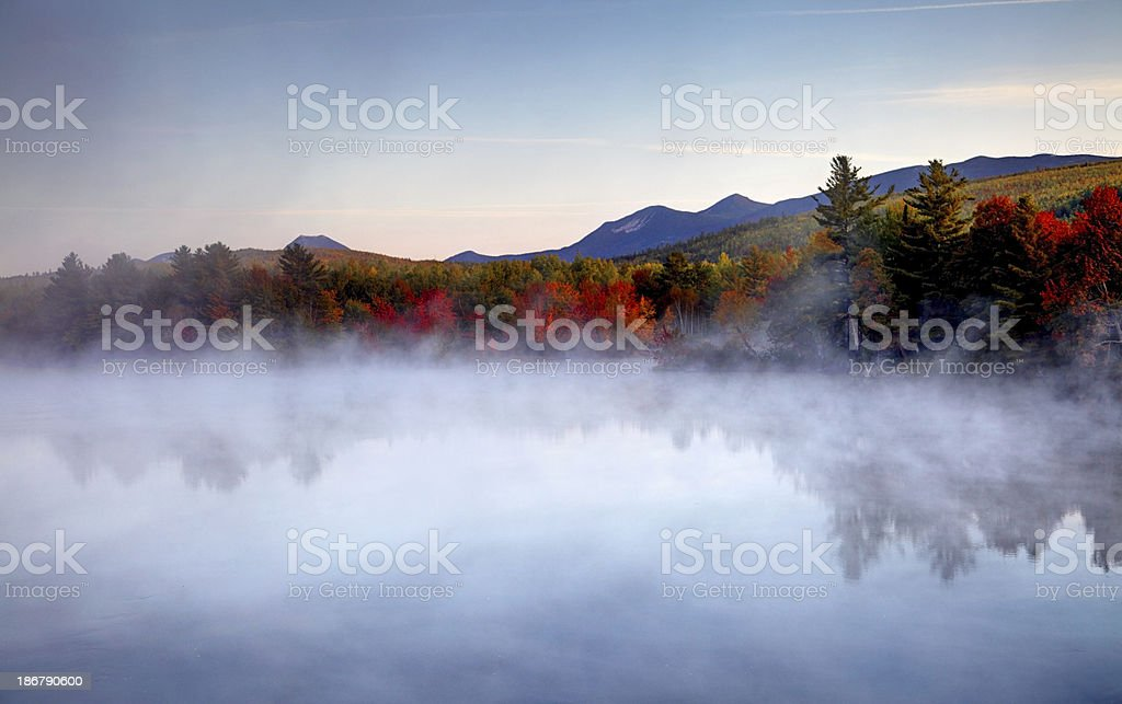 Autumn Mist near Baxter State Park in Maine royalty-free stock photo