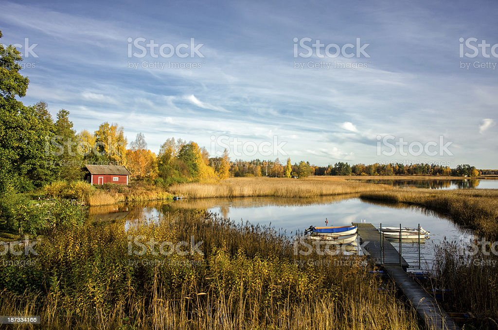Autumn morning in Sweden. royalty-free stock photo