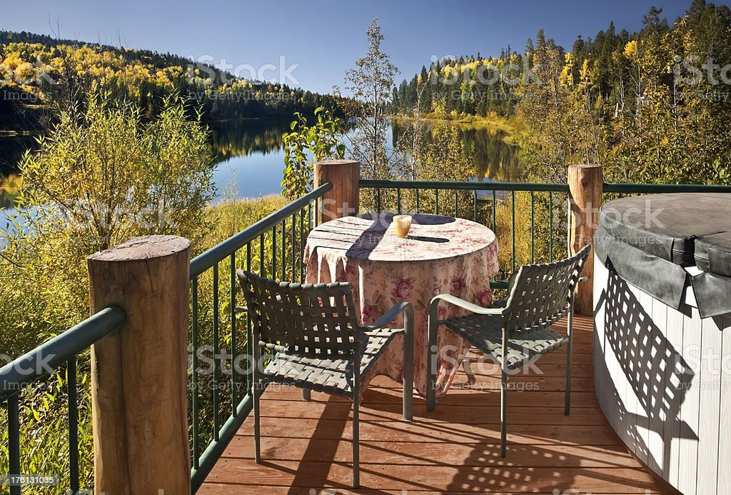 Autumn Morning On a Colorado Lake stock photo