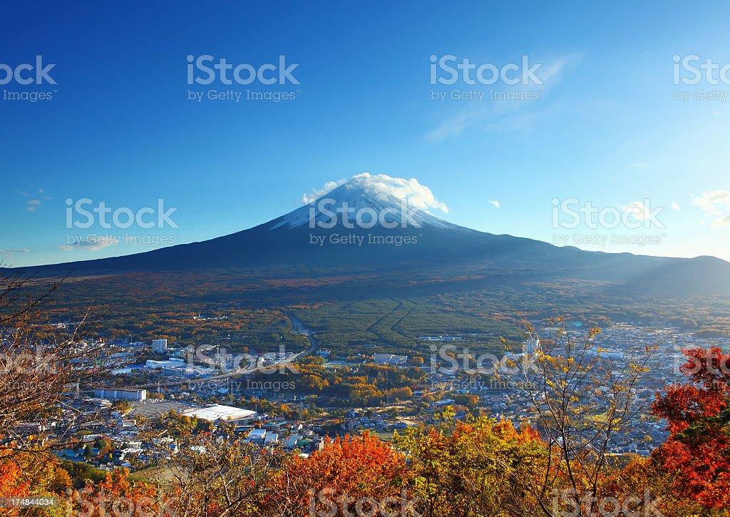 autumn mountain fuji royalty-free stock photo