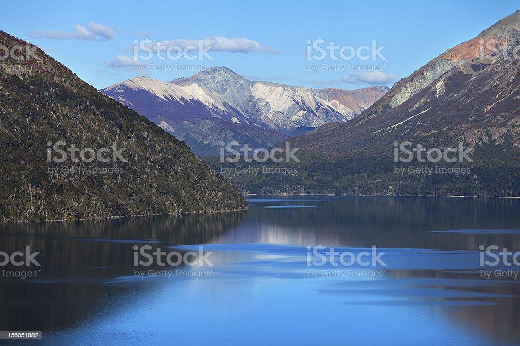 Autumn mountain lake royalty-free stock photo
