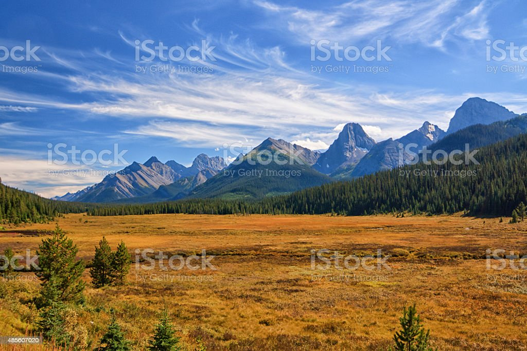 Autumn Mountain Landscape stock photo
