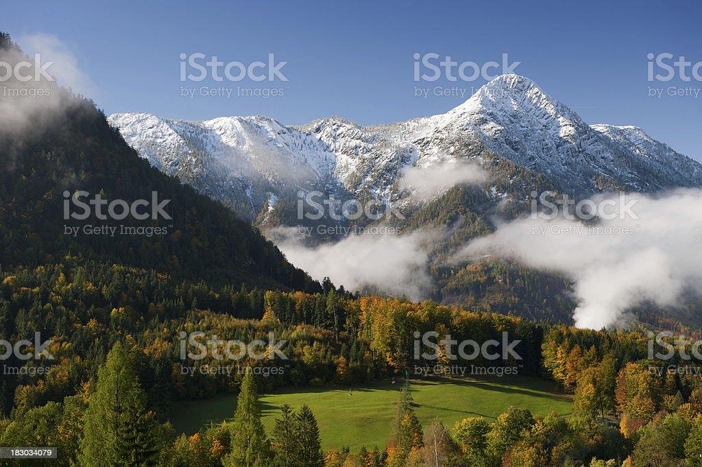 Autumn Mountain Panorama - Austrian Alps (XXL) royalty-free stock photo