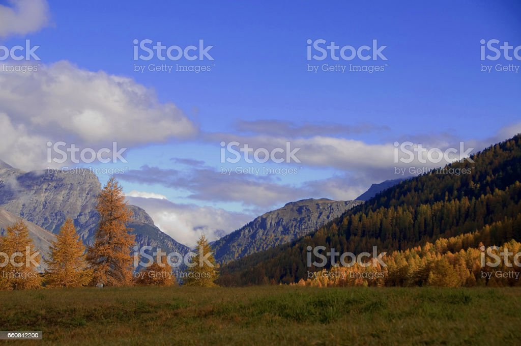 Autunno montagna stock photo