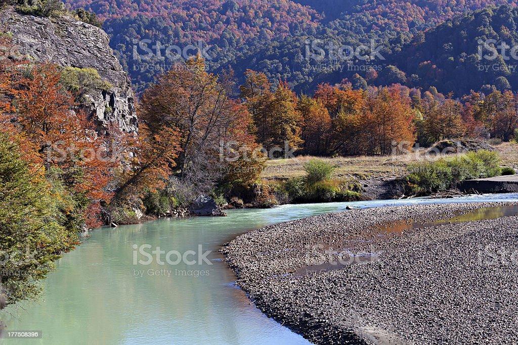 Autumn mountain river royalty-free stock photo