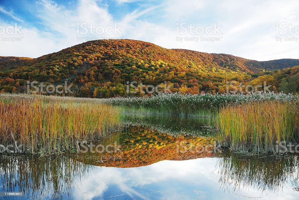 Autumn Mountain with lake royalty-free stock photo