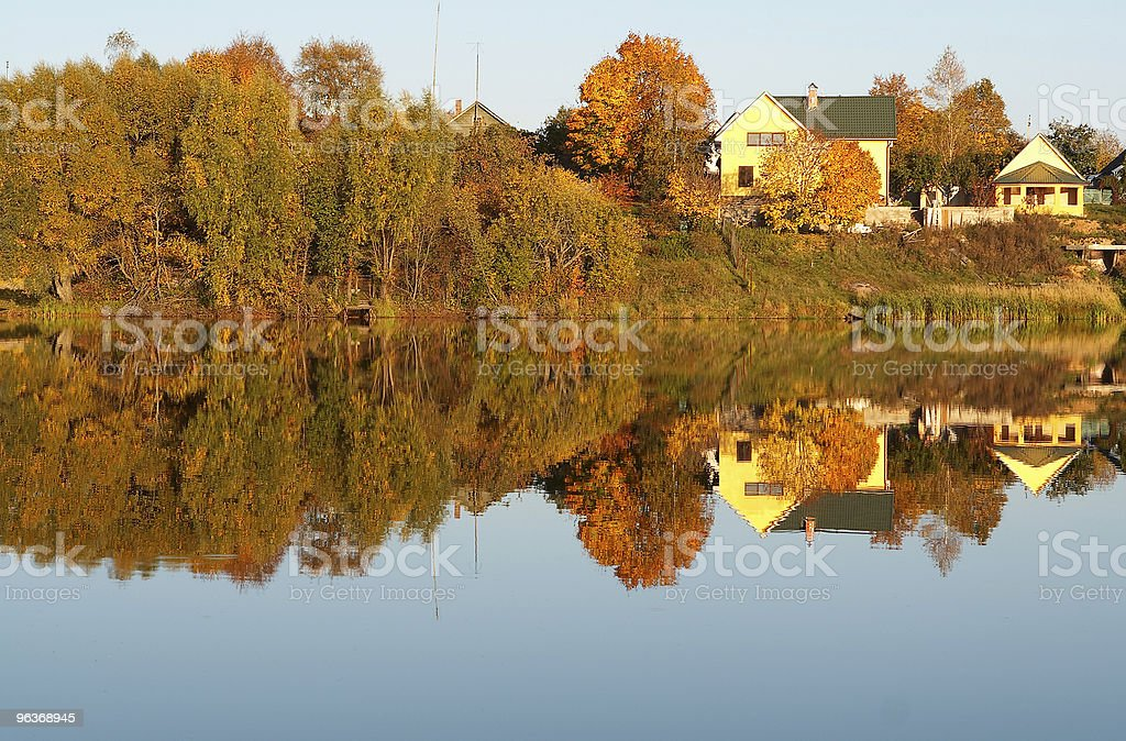 Autumn on a lake royalty-free stock photo