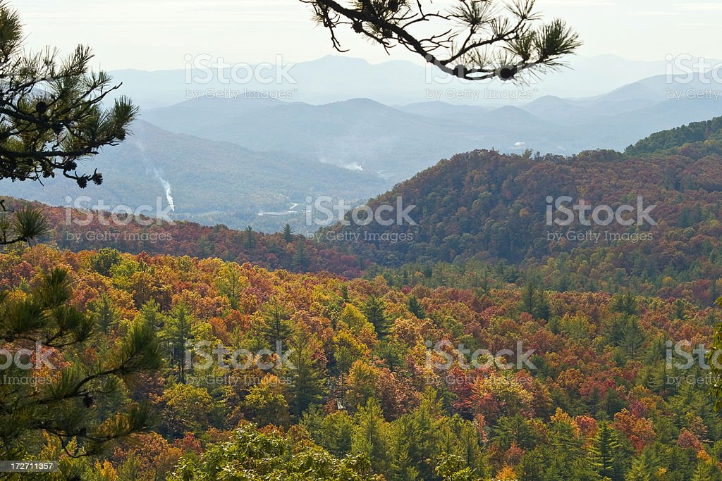 Autumn on Blue Ridge Parkway stock photo