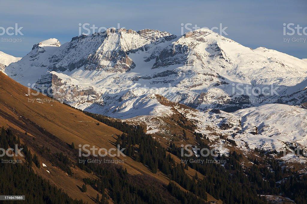 Autumn on the Alps stock photo