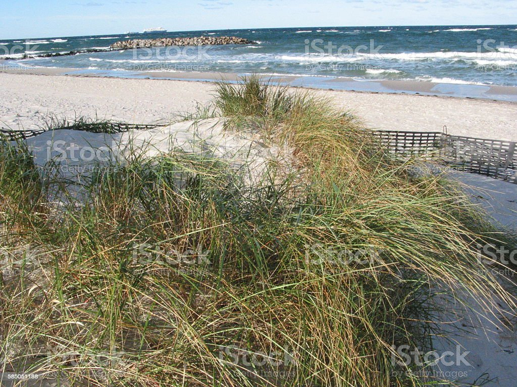 Herbst am Strand von Heidkate stock photo