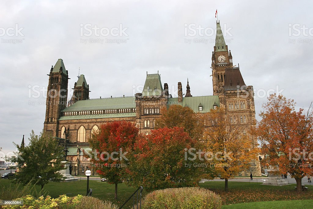 Autumn on the Hill royalty-free stock photo