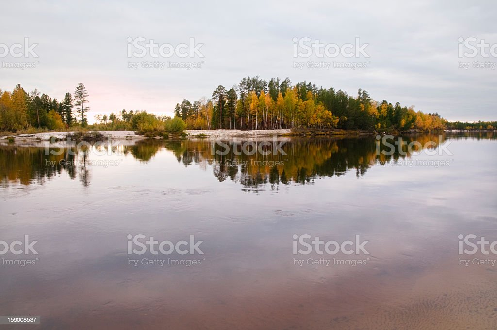 Autumn on the river, Vat-Egan. royalty-free stock photo