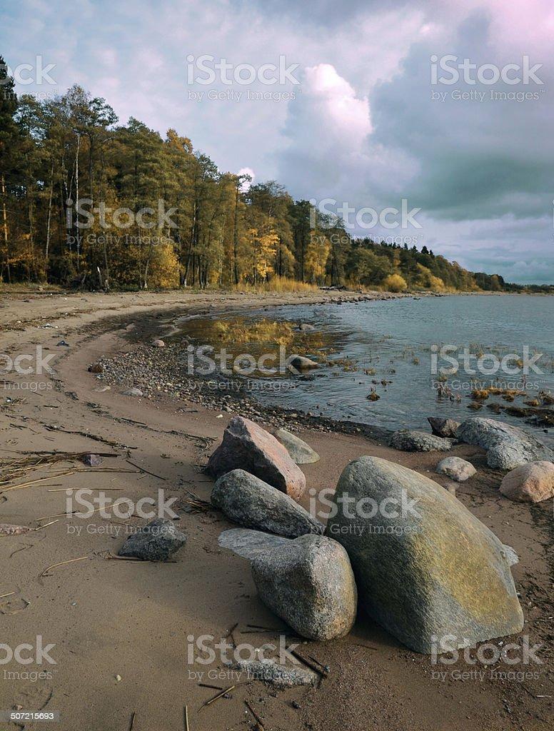 Outono na costa foto de stock royalty-free