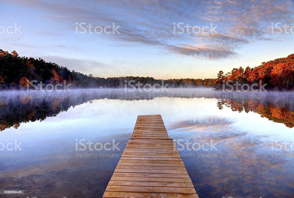 Autumn on the South Shore Region of Massachusetts stock photo