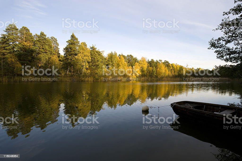 Autumn on the Stockholm archipelago royalty-free stock photo