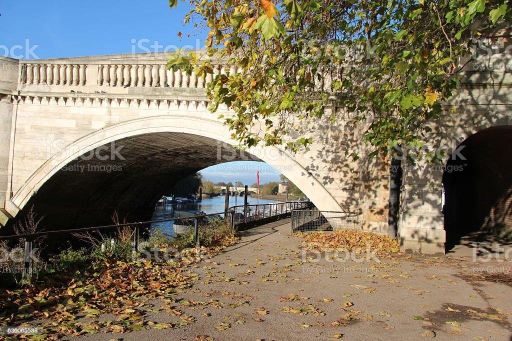 Autumn on the Thames stock photo