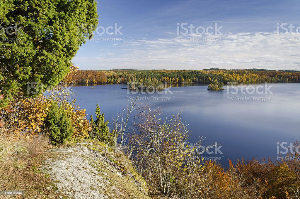 Autumn panorama landscape royalty-free stock photo