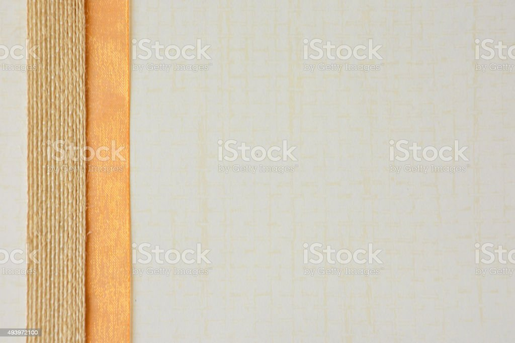 Autumn Paper Background with Ribbon Border stock photo