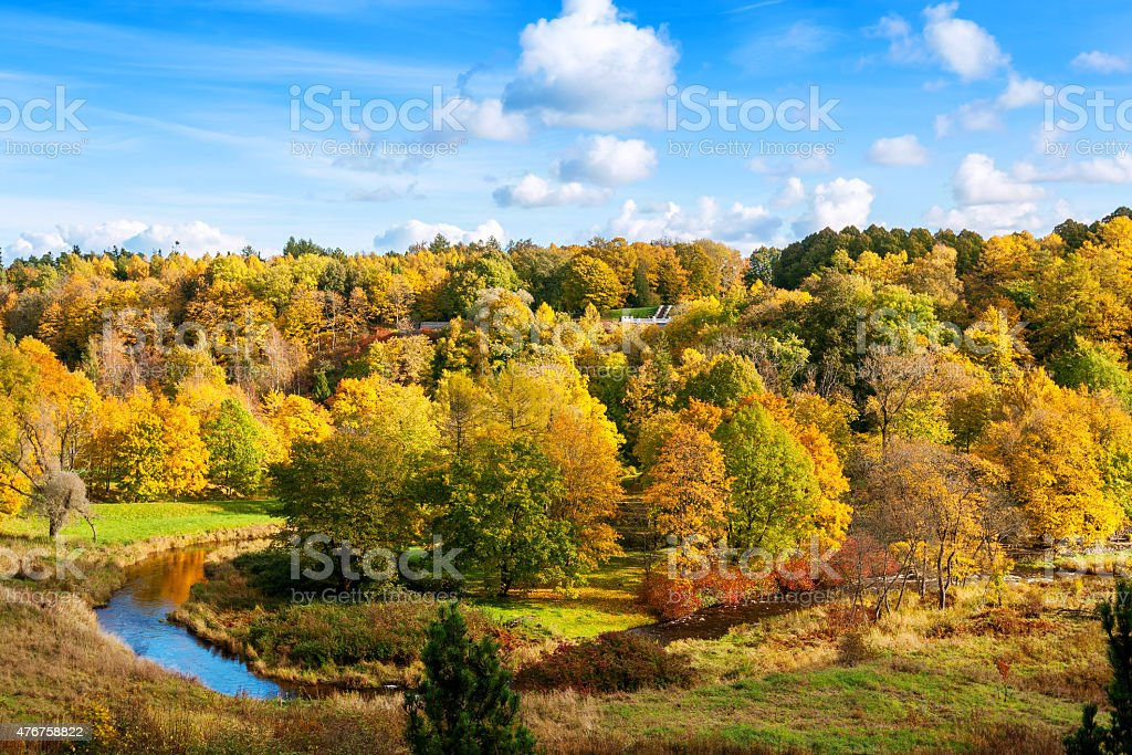 Autumn Park. Toila, Estonia, Europe stock photo