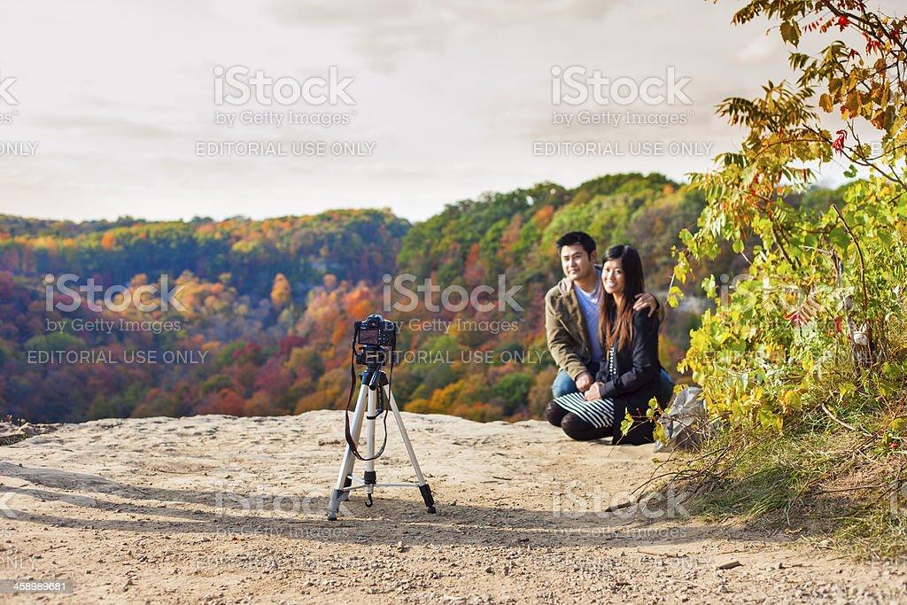 Autumn Portrait, Niagara Escarpment, Bruce Trail royalty-free stock photo