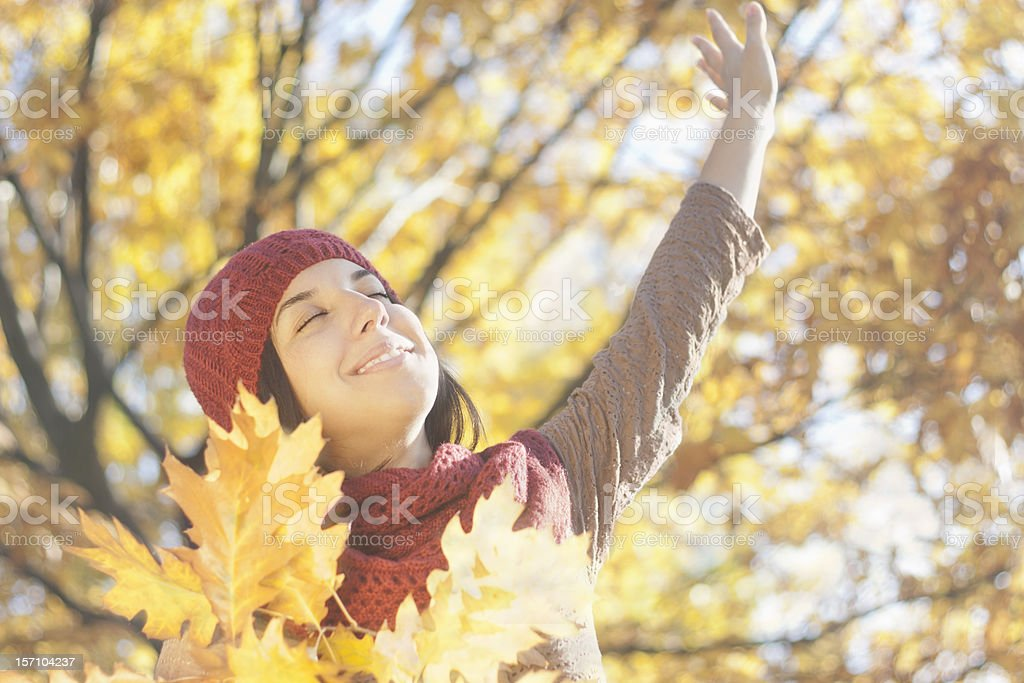 Autumn Portrait stock photo