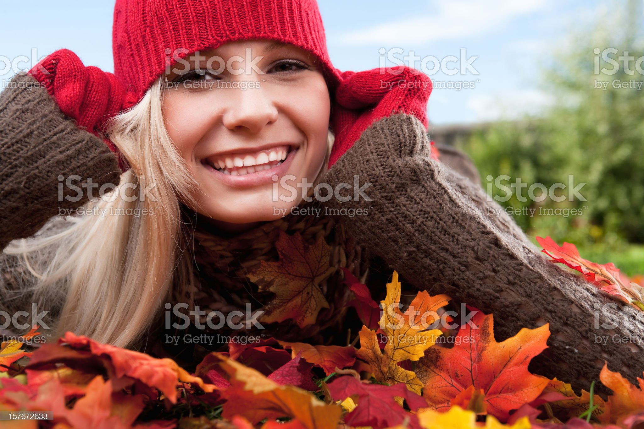 Autumn Portrait royalty-free stock photo