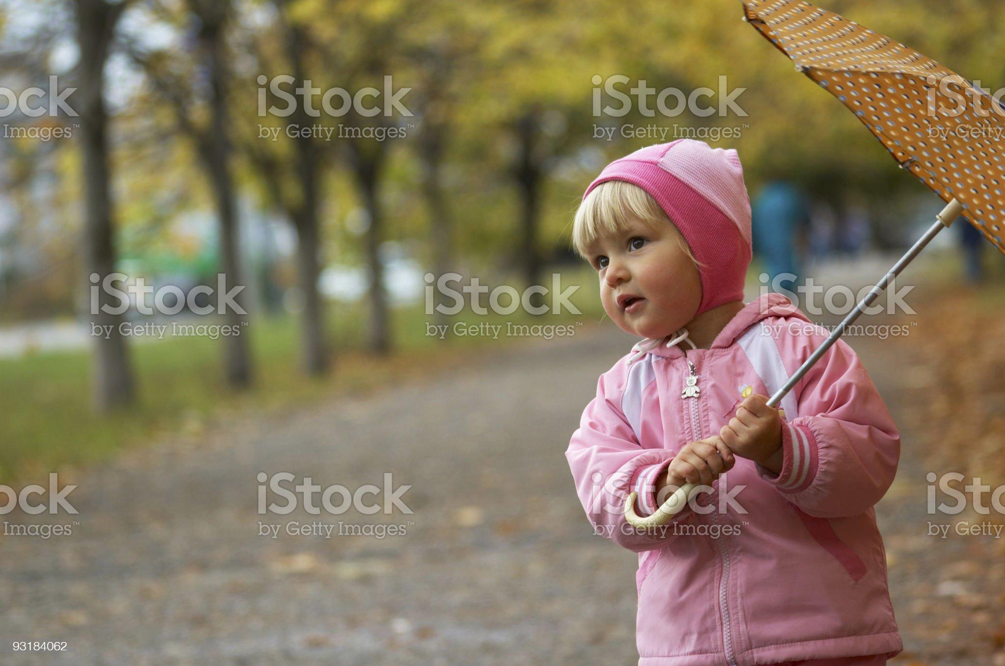 autumn portrait with umbrella royalty-free stock photo