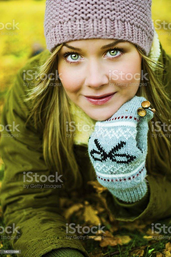 Autumn portrait woman royalty-free stock photo