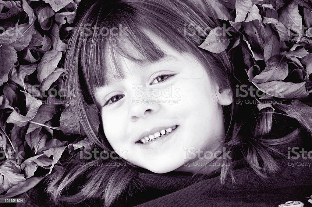 Autumn Portriat - Happy Childhood stock photo