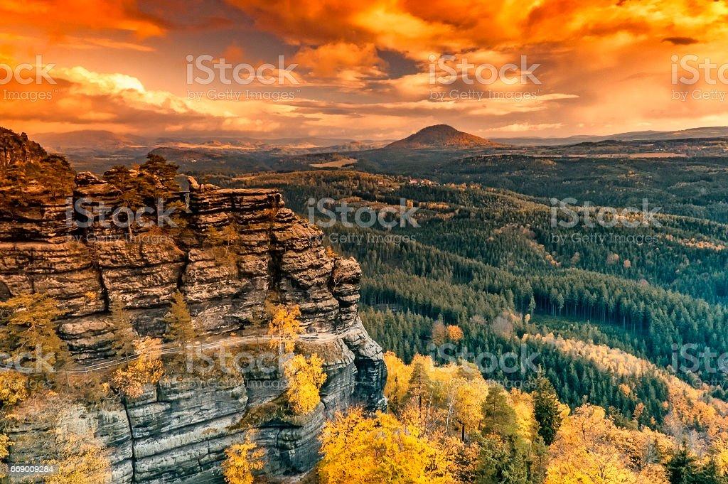 Autumn Pravcice Gate stock photo