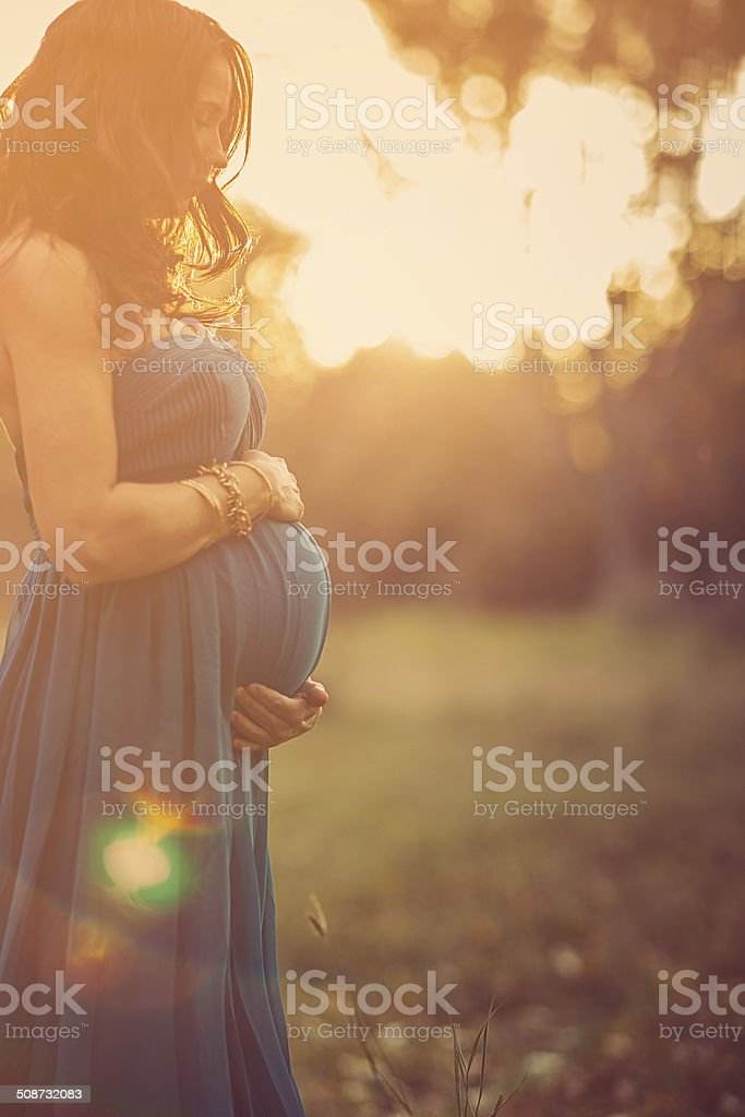 Autumn Pregnancy stock photo