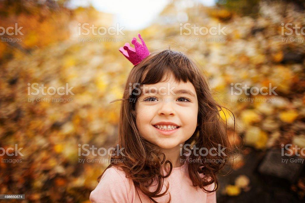 Autumn princess stock photo