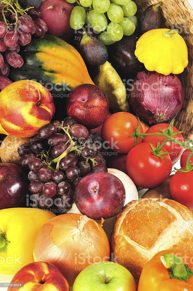 autumn produce background royalty-free stock photo