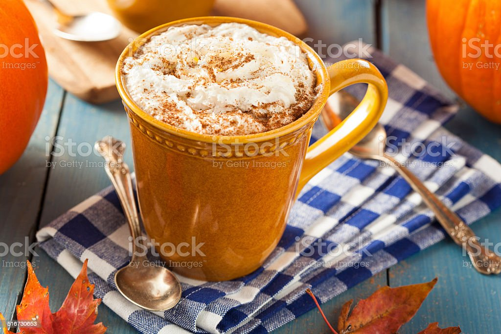 Autumn Pumpkin Spice Latte stock photo