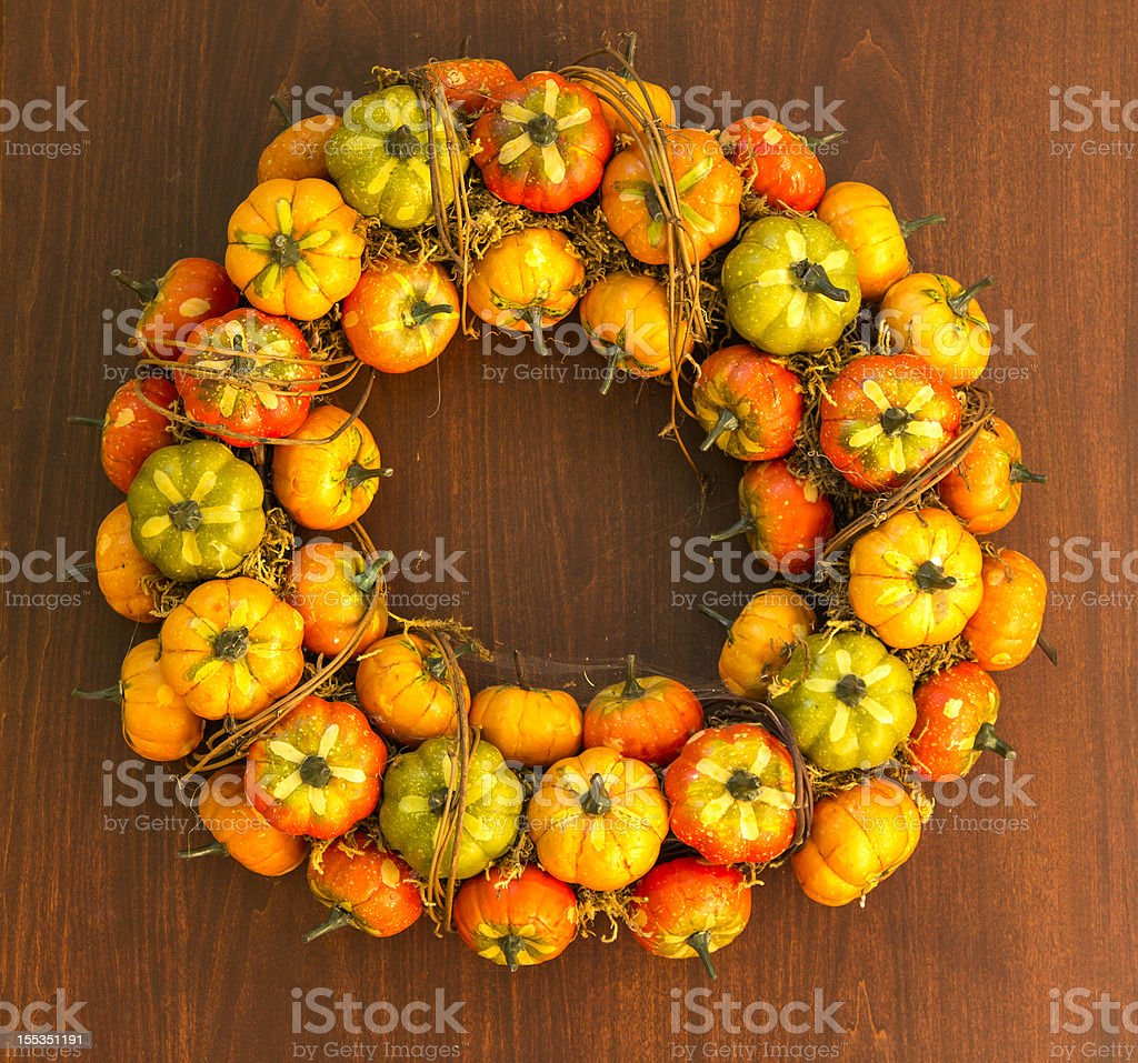 Autumn pumpkins decoration royalty-free stock photo