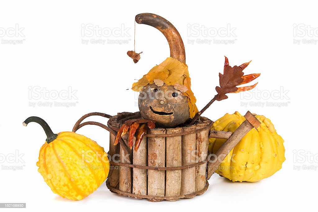 Autumn puppet royalty-free stock photo