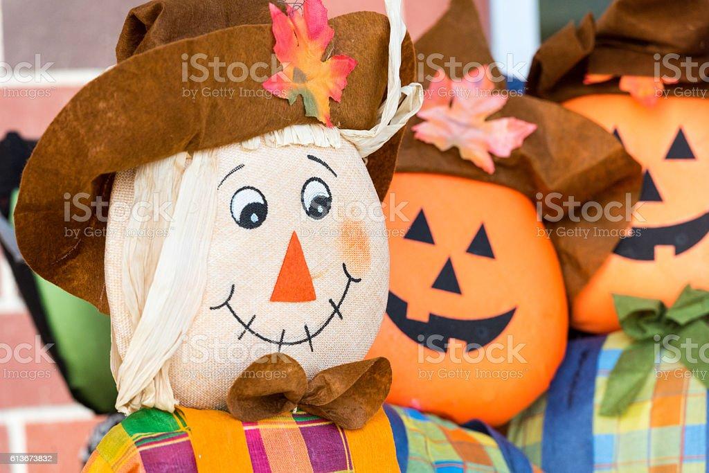 Autumn rag dolls stock photo