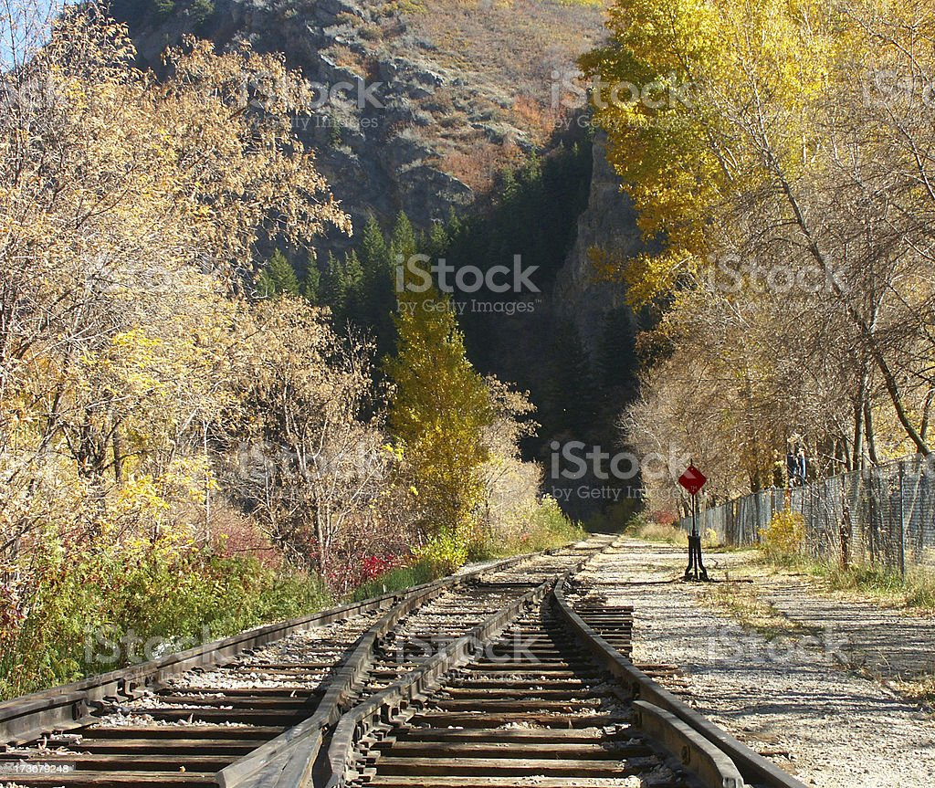 Autumn Railroad Tracks stock photo