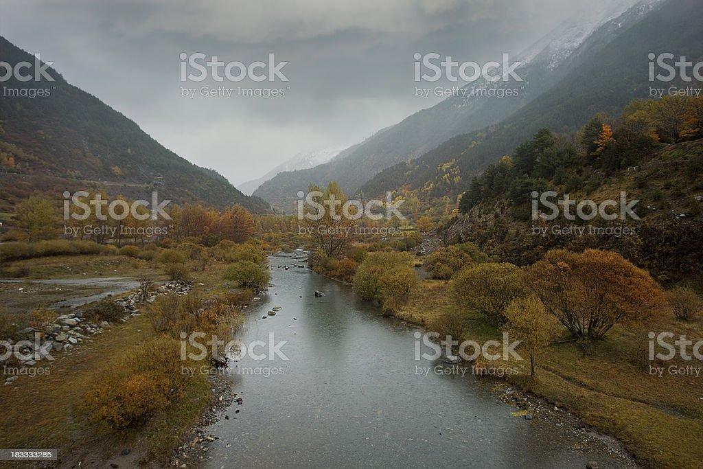 Autumn raining landscape royalty-free stock photo