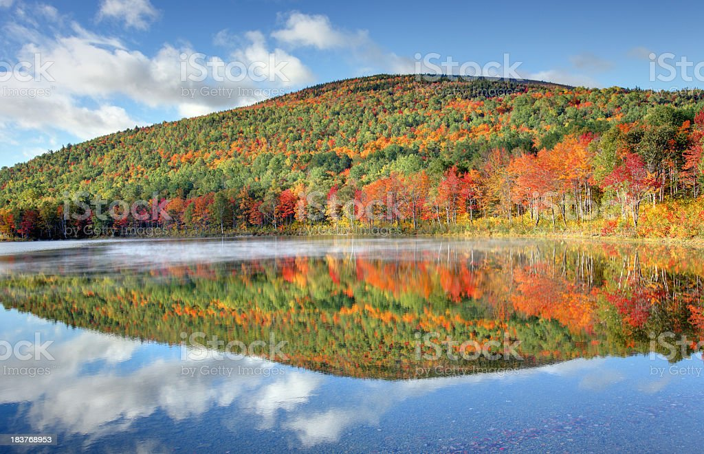 Autumn Reflection in Baxter State Park stock photo