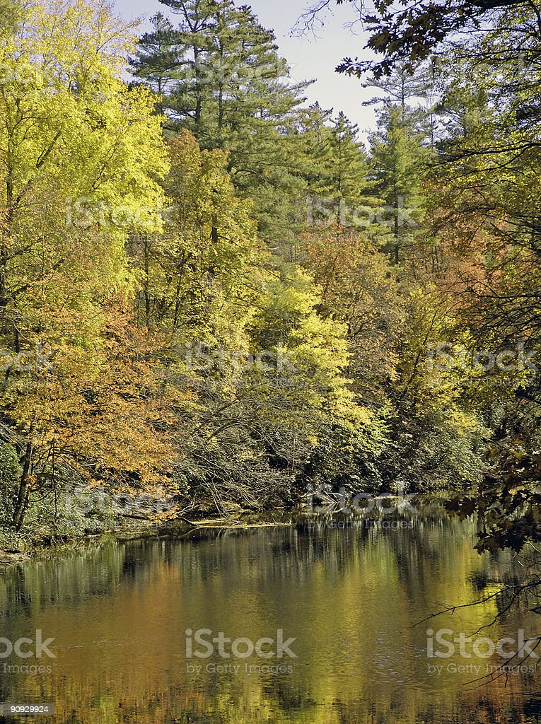 autumn reflection in the mountains royalty-free stock photo