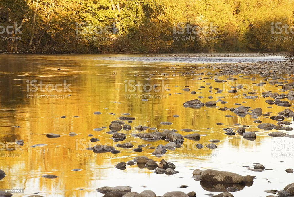 Autumn reflection royalty-free stock photo