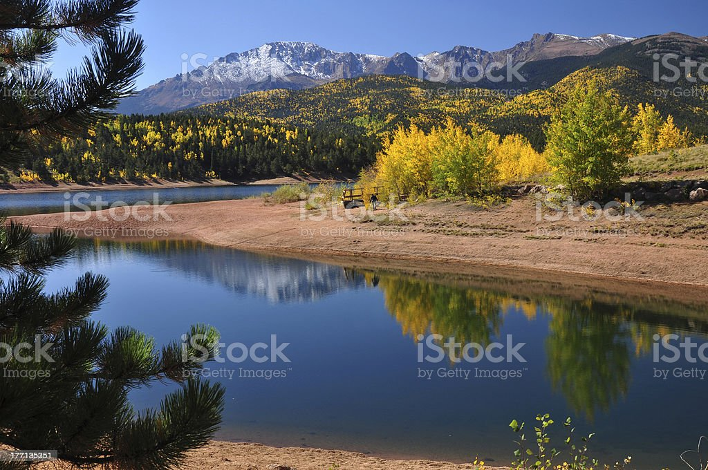 Autumn Reflections at Crystal stock photo